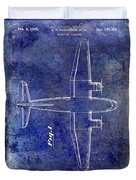 1945 Transport Airplane Patent Blue Duvet Cover