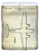 1945 Transport Airplane Patent Duvet Cover