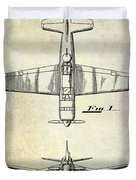 1946 Airplane Patent Duvet Cover