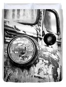 1946 Chevy Work Truck - Headlight Detail Duvet Cover