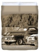 1946 Dodge In Sepia Duvet Cover