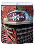 1946 International Harvester Truck Grill Duvet Cover