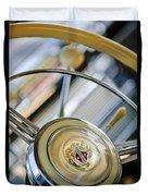 1947 Buick Roadmaster Steering Wheel Duvet Cover