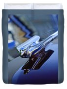1947 Cadillac 62 Convertible Hood Ornament Duvet Cover