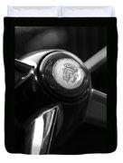 1947 Cadillac Steering Wheel Duvet Cover by Jill Reger