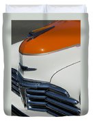 1947 Chevrolet Deluxe Front End Duvet Cover