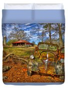 1947 Dodge Dump Truck Country Scene Art Duvet Cover