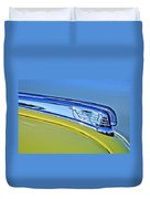 1947 Ford Super Deluxe Hood Ornament 2 Duvet Cover