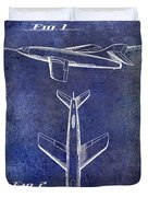 1947 Jet Airplane Patent Blue Duvet Cover