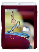 1947 Packard Coupe Hood Ornament Duvet Cover