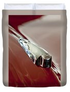 1948 Crosley Convertible Hood Ornament Duvet Cover