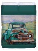 1948 Ford Pickup Rusty Gem  Duvet Cover