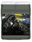 1948 Ford Super Deluxe Dash Duvet Cover