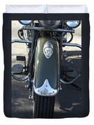 1948 Indian Chief Motorcycle Hood Ornament Duvet Cover