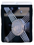 1948 Mg Tc Steering Wheel 2 Duvet Cover