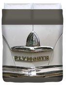 1948 Plymouth Hood Logo Duvet Cover