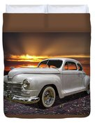 1948 Plymouth Two Door Coupe Duvet Cover