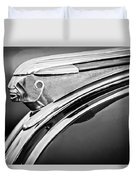 1948 Pontiac Chief Hood Ornament 2 Duvet Cover by Jill Reger