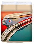 1948 Pontiac Chief Hood Ornament Duvet Cover