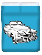1948 Pontiac Silver Streak Convertible Illustration Duvet Cover