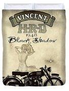 1948 Vincent Black Shadow Duvet Cover