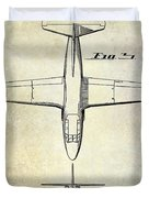 1949 Airplane Patent Drawing Duvet Cover