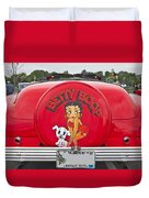 1949 Chevrolet Convertible Betty Boop  Duvet Cover