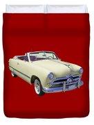 1949 Ford Custom Deluxe Convertible Duvet Cover