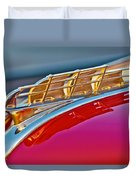 1949 Plymouth Hood Ornament Duvet Cover by Jill Reger