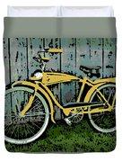 1949 Shelby Donald Duck Bike Duvet Cover