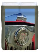 1949 Willys Jeepster Hood Ornament Duvet Cover