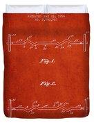 1950 Barbell Patent Spbb04_vr Duvet Cover