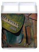 1950 Chevrolet Pickup Truck Emblem Duvet Cover