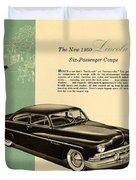 1950 Lincoln 6 Passenger Coupe Duvet Cover