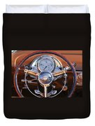 1950 Oldsmobile Rocket 88 Steering Wheel 2 Duvet Cover by Jill Reger