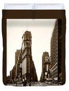 1950 Times Square New York Duvet Cover