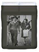 1950s Fashion Duvet Cover