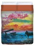 1950's - In The Hopi Village Duvet Cover