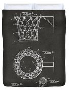 1951 Basketball Net Patent Artwork - Gray Duvet Cover