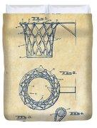 1951 Basketball Net Patent Artwork - Vintage Duvet Cover