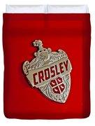 1951 Crosley Hood Emblem Duvet Cover