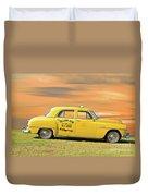 1951 Plymouth Sedan 'yellow Cab' Duvet Cover