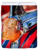1951 Pontiac Chief Hood Ornament Duvet Cover by Jill Reger