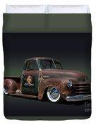 1951 Rusty Chevrolet Pickup Truck Duvet Cover