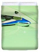 1951 Studebaker Commander Hood Ornament 3 Duvet Cover by Jill Reger