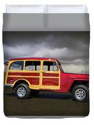 1951 Willy's Jeepster Duvet Cover