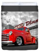 1952 Chevrolet Truck At The Diner Duvet Cover
