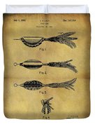 1952 Fish Lure Patent Duvet Cover