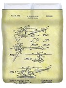 1952 Helicopter Patent Duvet Cover