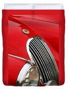 1952 Jaguar Xk 120 Grille Emblem Duvet Cover